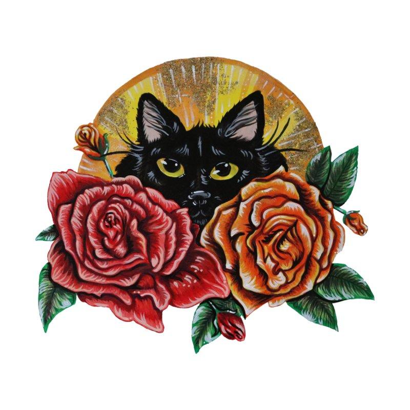 Black Cat Garden Women's Zip-Up Hoody by Shay MacMorran's Artist Shop