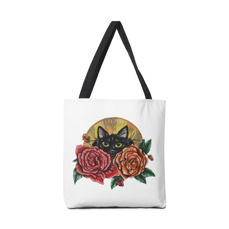 Black Cat Garden Accessories Bag by Shay MacMorran's Artist Shop