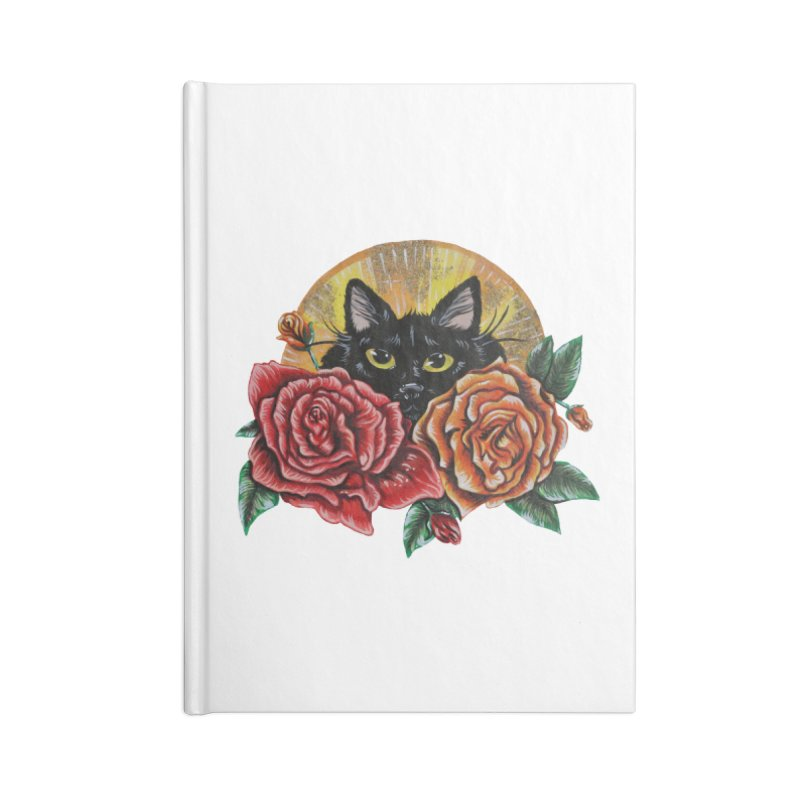 Black Cat Garden Accessories Notebook by Shay MacMorran's Artist Shop