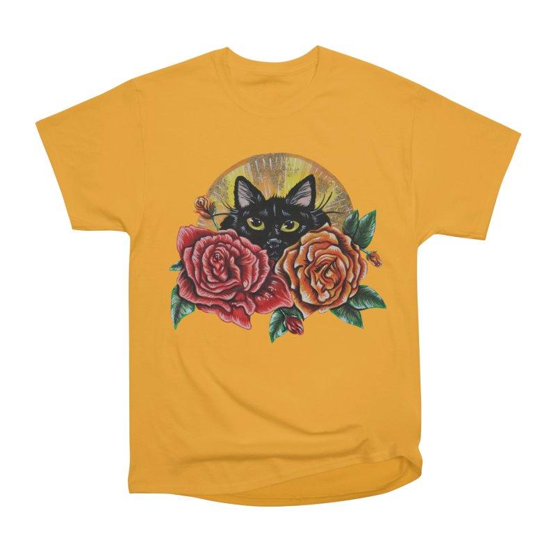 Black Cat Garden Women's T-Shirt by Shay MacMorran's Artist Shop