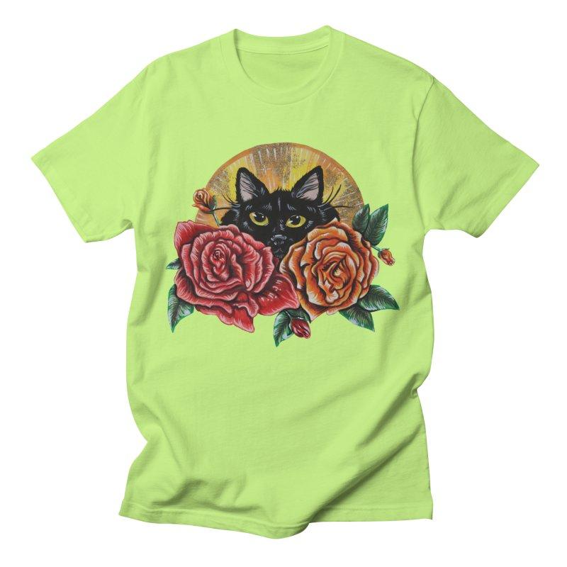 Black Cat Garden Men's T-Shirt by Shay MacMorran's Artist Shop