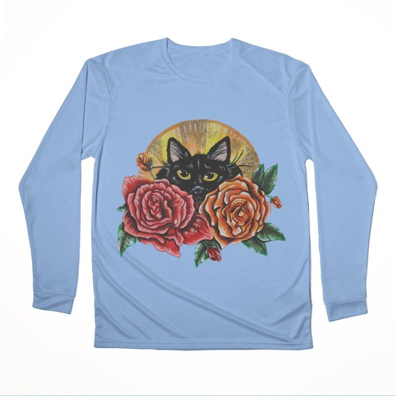 Black Cat Garden Women's Longsleeve T-Shirt by Shay MacMorran's Artist Shop