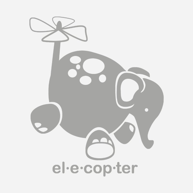 El-e-cop-ter Kids Toddler T-Shirt by ShayneArt's Artist Shop