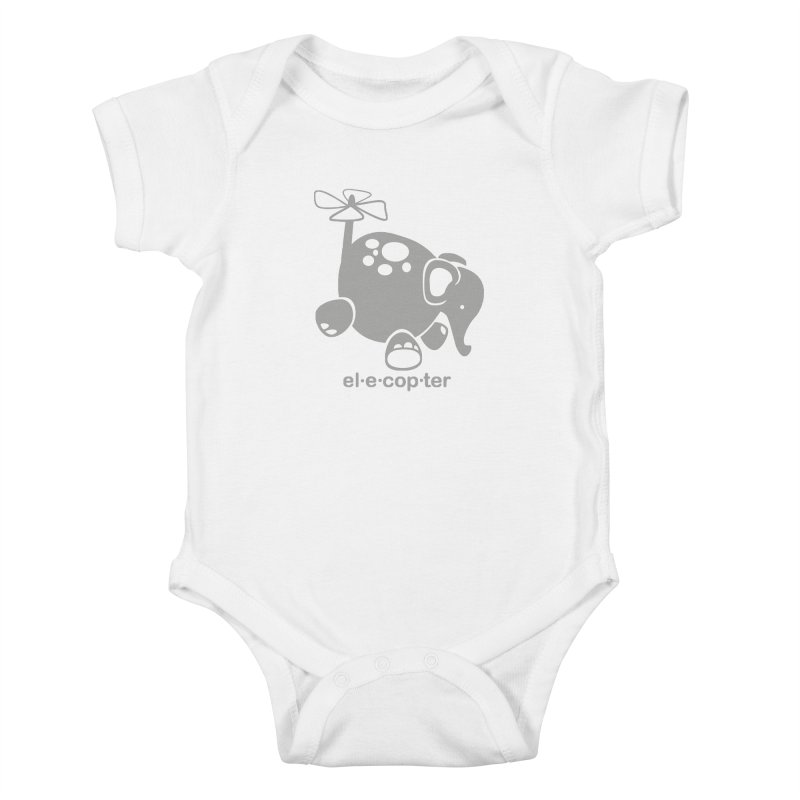 El-e-cop-ter Kids Baby Bodysuit by ShayneArt's Artist Shop