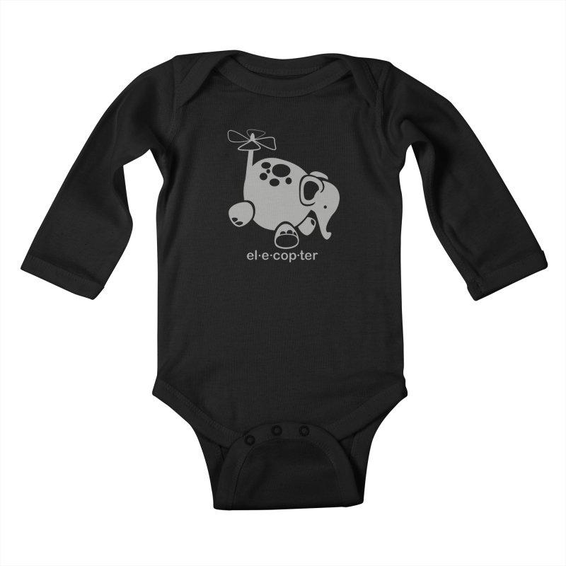 El-e-cop-ter Kids Baby Longsleeve Bodysuit by ShayneArt's Artist Shop