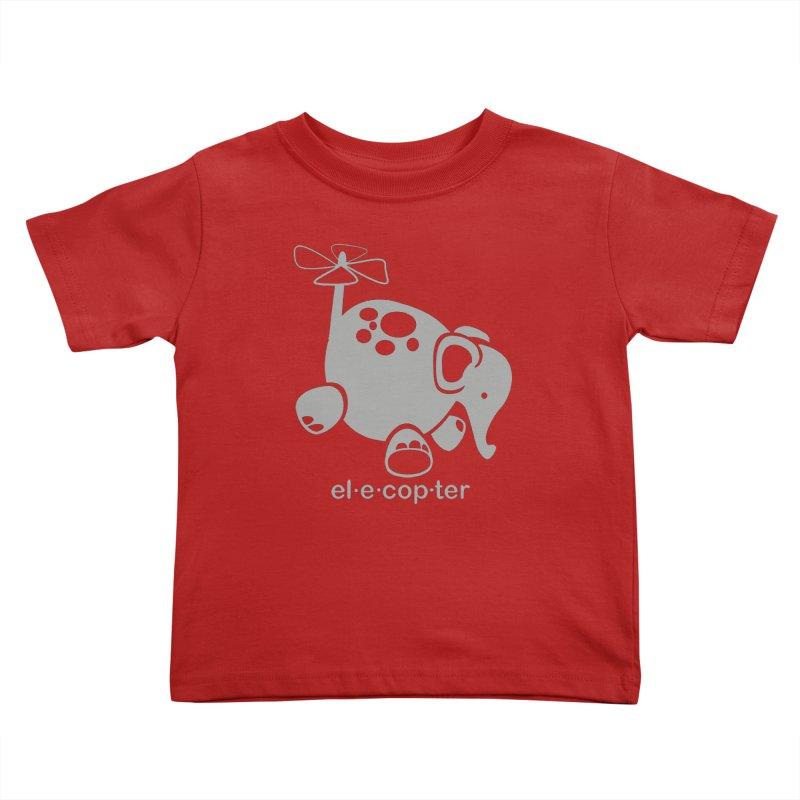 El-e-cop-ter Kids Toddler T-Shirt by ShayneArt's Artist Shop