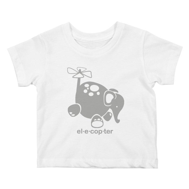 El-e-cop-ter Kids Baby T-Shirt by ShayneArt's Artist Shop
