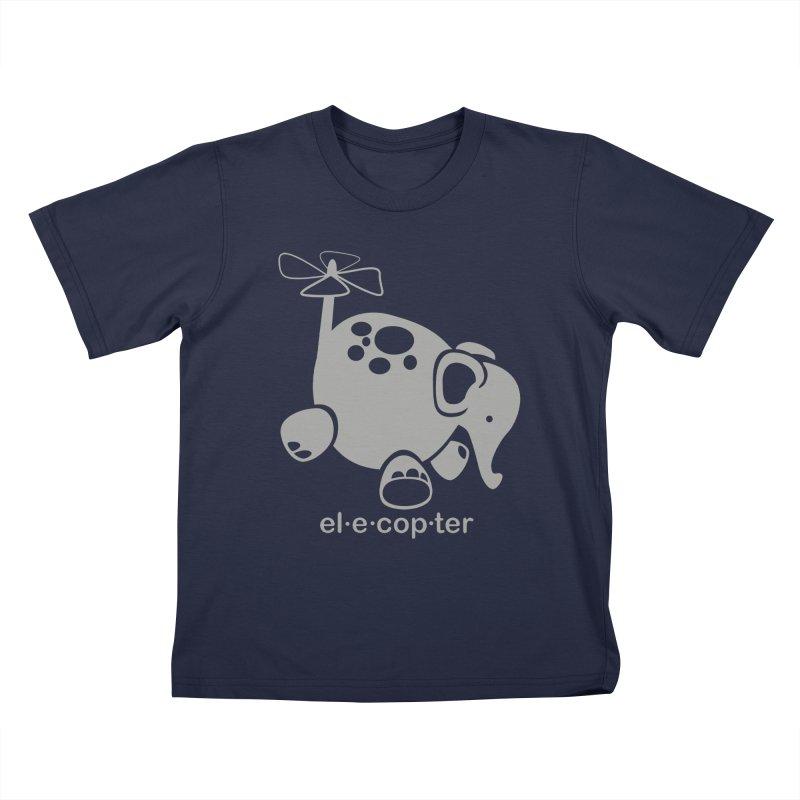 El-e-cop-ter Kids T-Shirt by ShayneArt's Artist Shop