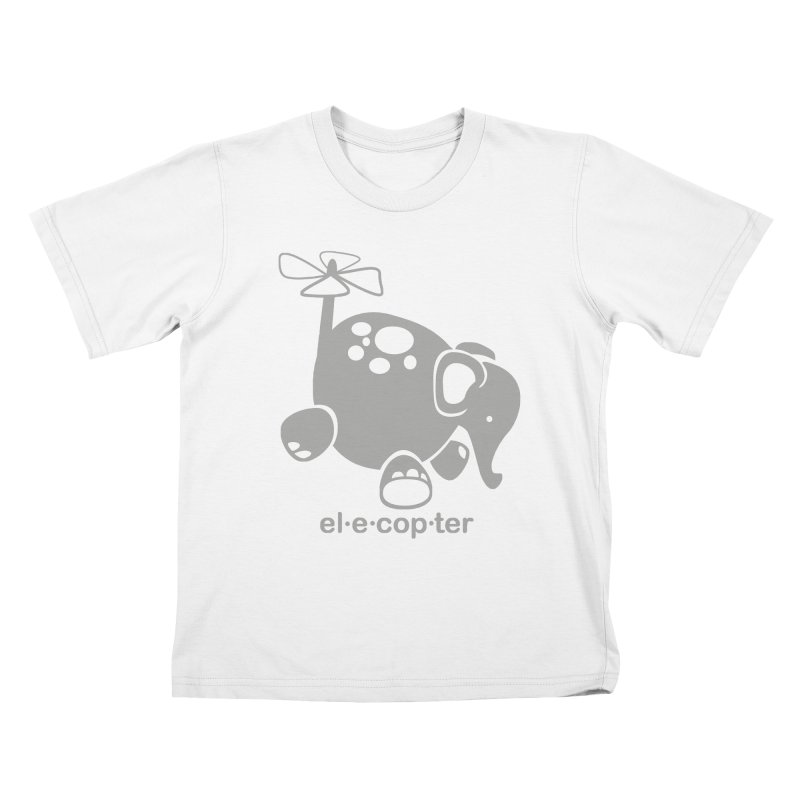 El-e-cop-ter Kids T-Shirt by ShayneArt's Artist Shop