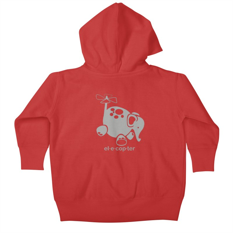 El-e-cop-ter Kids Baby Zip-Up Hoody by ShayneArt's Artist Shop