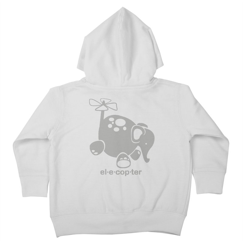 El-e-cop-ter Kids Toddler Zip-Up Hoody by ShayneArt's Artist Shop