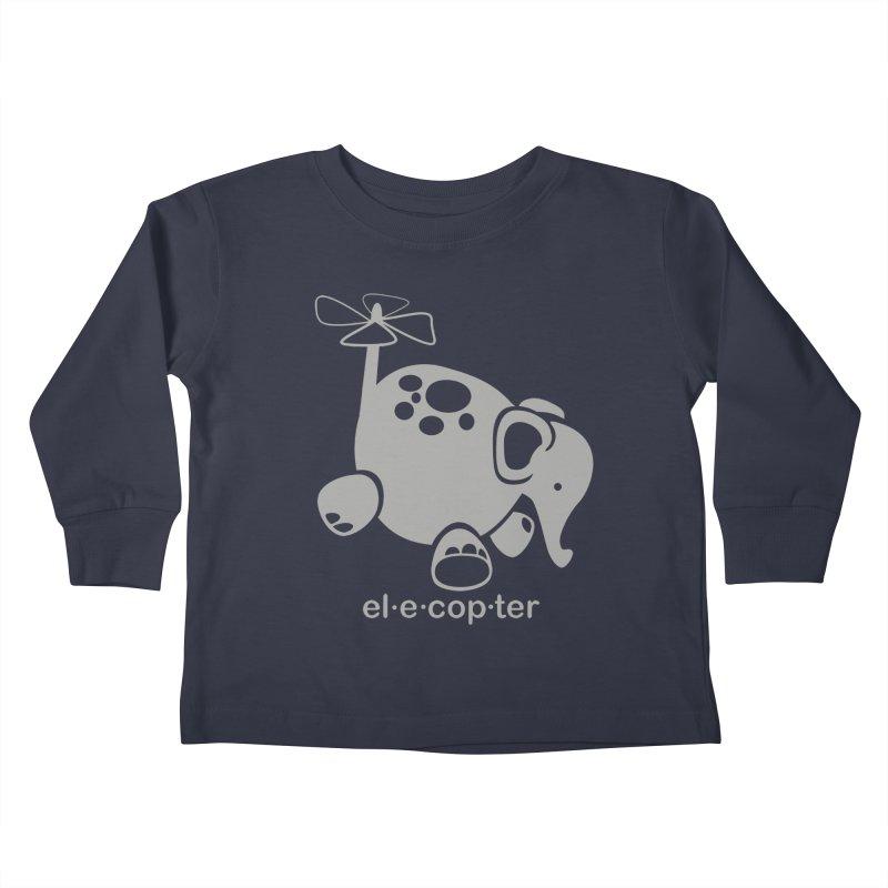 El-e-cop-ter Kids Toddler Longsleeve T-Shirt by ShayneArt's Artist Shop