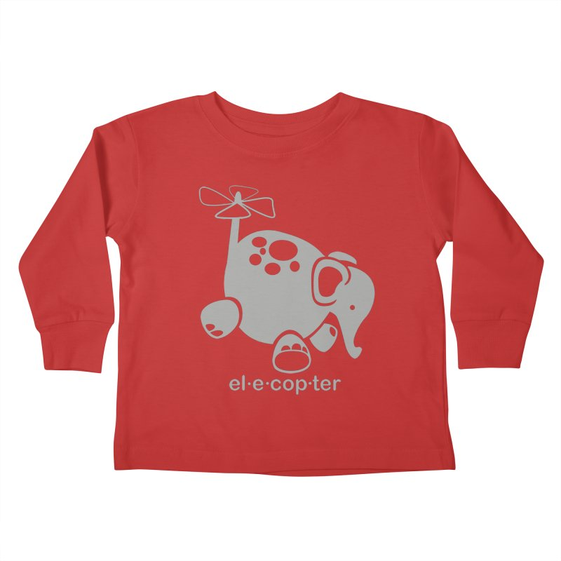 El-e-cop-ter Kids Toddler Longsleeve T-Shirt by ShayneArt's Artist Shop