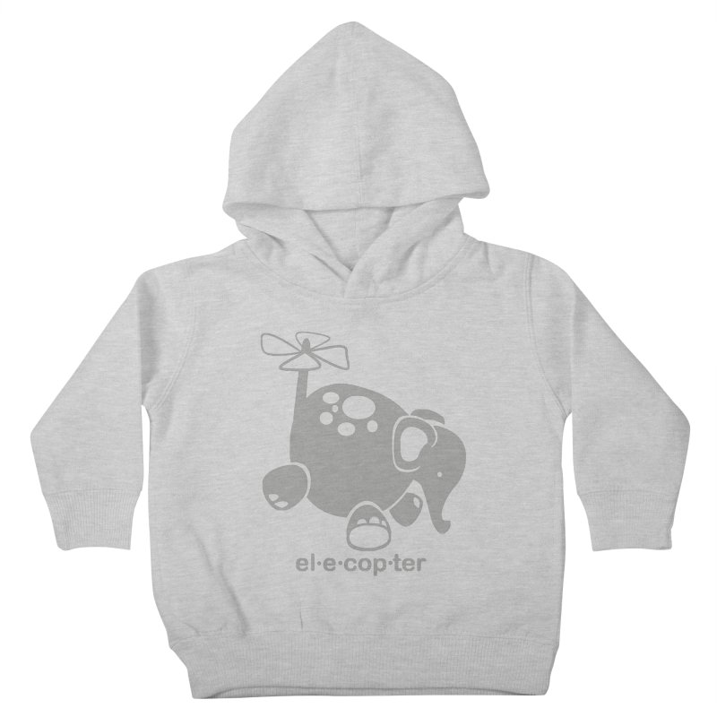 El-e-cop-ter Kids Toddler Pullover Hoody by ShayneArt's Artist Shop