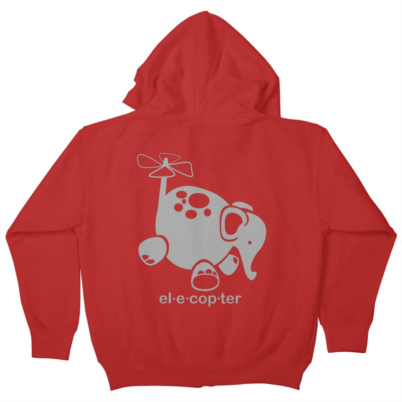 El-e-cop-ter Kids Zip-Up Hoody by ShayneArt's Artist Shop
