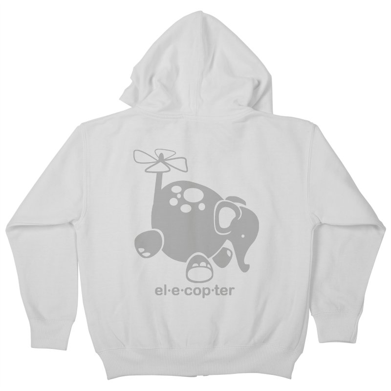 El-e-cop-ter Kids Zip-Up Hoody by ShayneArt's Artist Shop