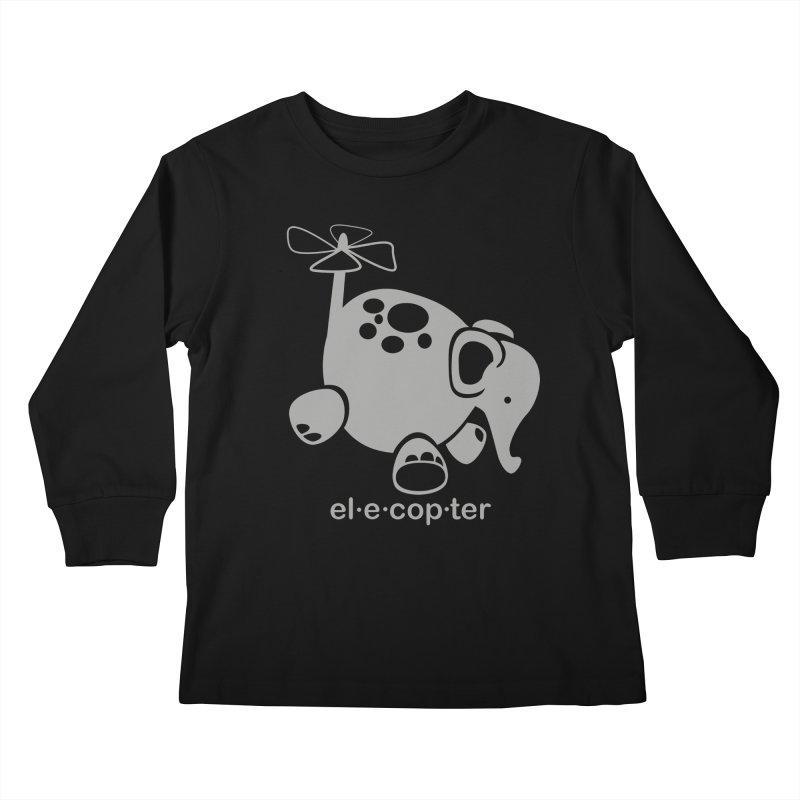 El-e-cop-ter Kids Longsleeve T-Shirt by ShayneArt's Artist Shop