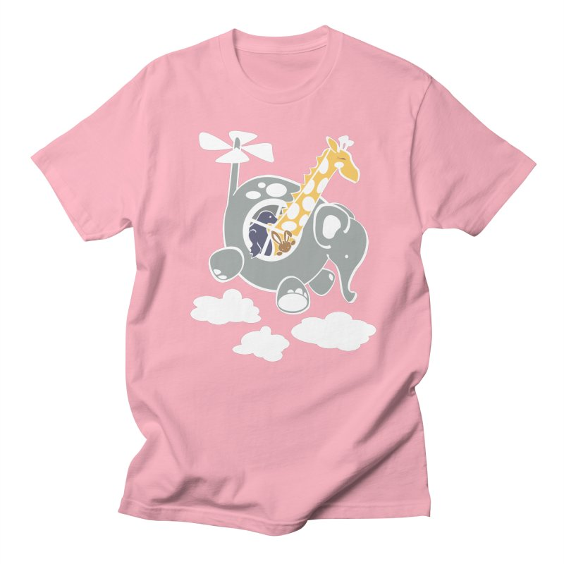 Elecopter Ride Men's Regular T-Shirt by ShayneArt's Artist Shop