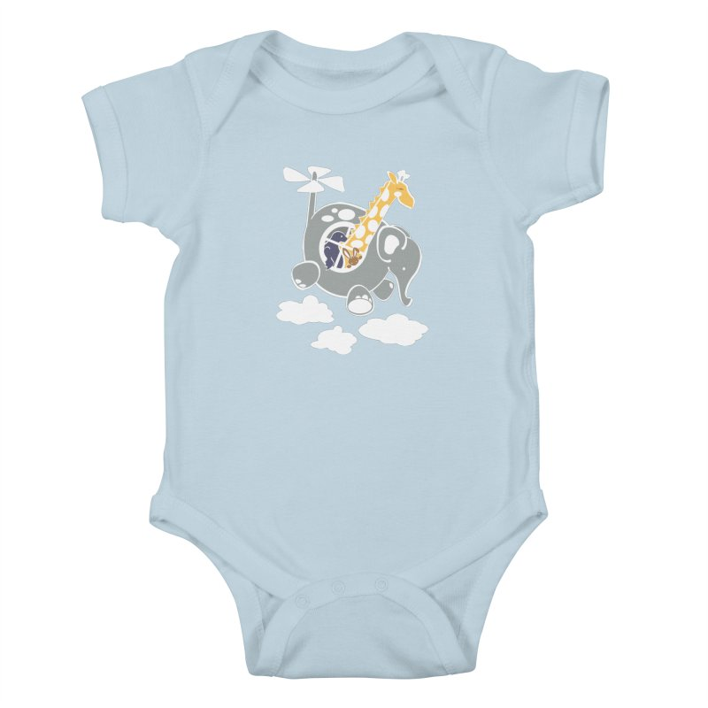 Elecopter Ride Kids Baby Bodysuit by ShayneArt's Artist Shop