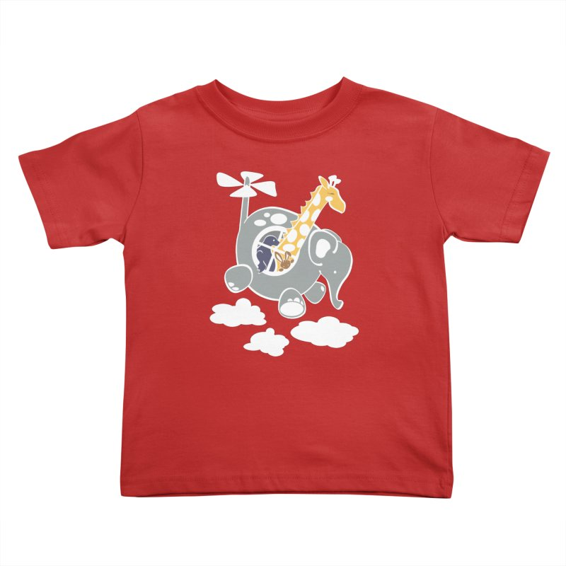 Elecopter Ride Kids Toddler T-Shirt by ShayneArt's Artist Shop