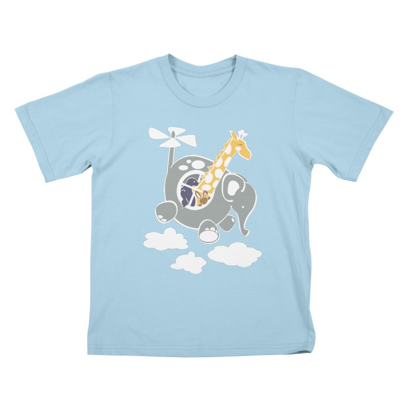 Elecopter Ride Kids T-Shirt by ShayneArt's Artist Shop