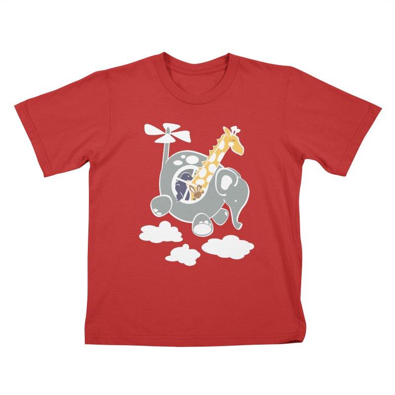 Elecopter Ride Kids T-Shirt by ShayneArt's Artist Shop