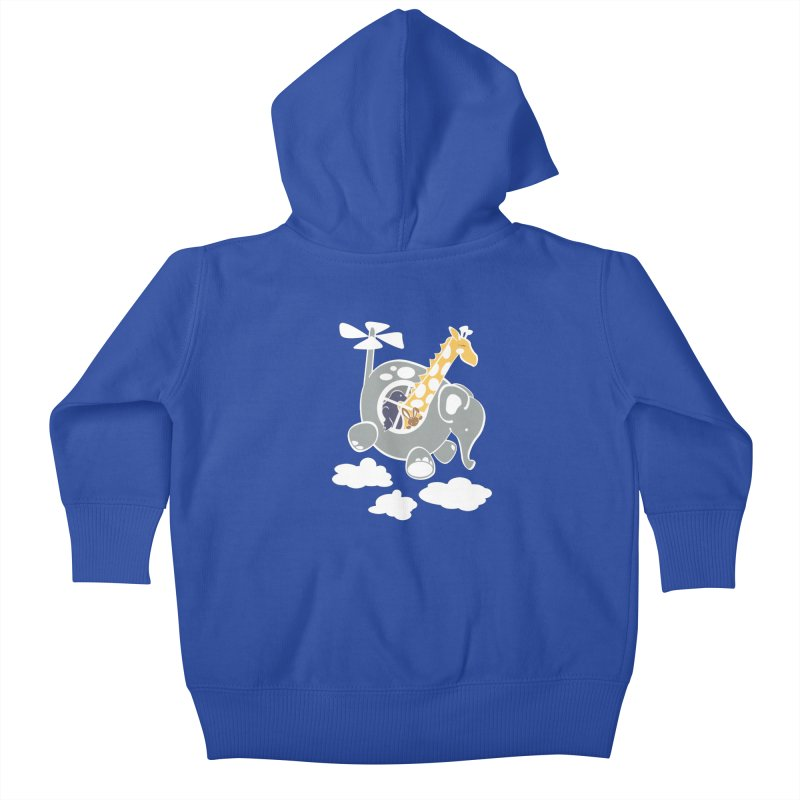 Elecopter Ride Kids Baby Zip-Up Hoody by ShayneArt's Artist Shop