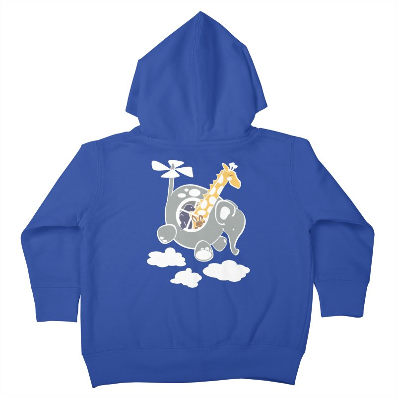 Elecopter Ride Kids Toddler Zip-Up Hoody by ShayneArt's Artist Shop