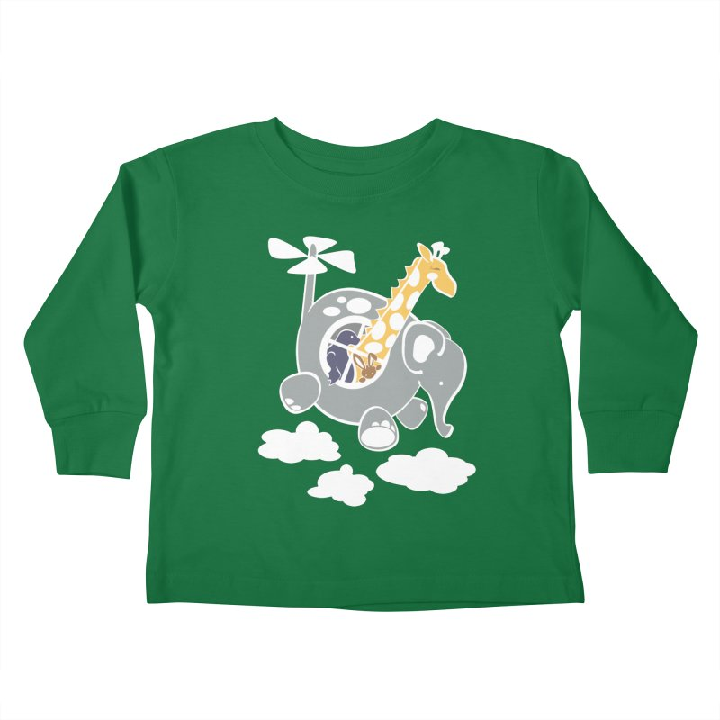 Elecopter Ride Kids Toddler Longsleeve T-Shirt by ShayneArt's Artist Shop