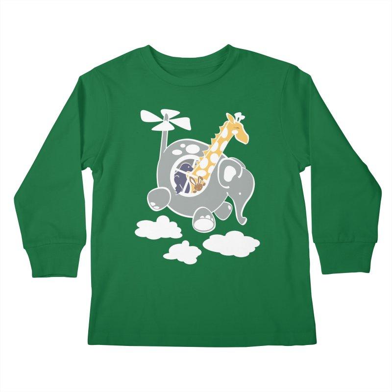 Elecopter Ride Kids Longsleeve T-Shirt by ShayneArt's Artist Shop