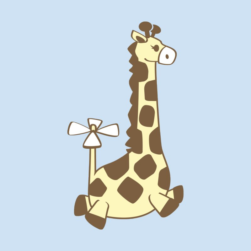 Flying Giraffe Friend Kids Baby T-Shirt by ShayneArt's Artist Shop