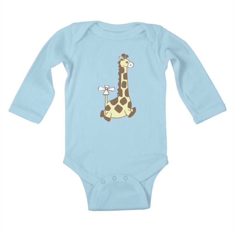 Flying Giraffe Friend Kids Baby Longsleeve Bodysuit by ShayneArt's Artist Shop
