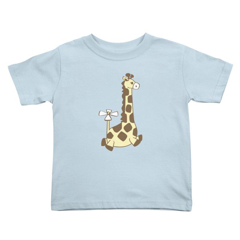 Flying Giraffe Friend Kids Toddler T-Shirt by ShayneArt's Artist Shop