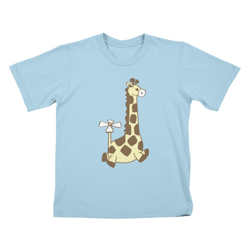 Flying Giraffe Friend Kids T-Shirt by ShayneArt's Artist Shop