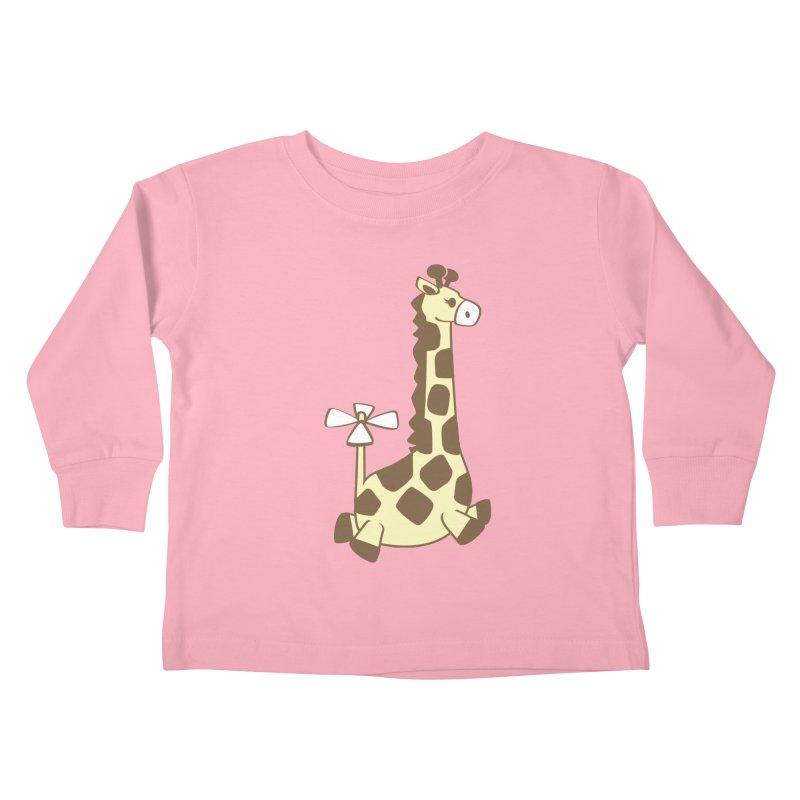 Flying Giraffe Friend Kids Toddler Longsleeve T-Shirt by ShayneArt's Artist Shop