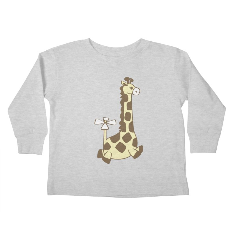 Flying Giraffe Friend Kids Toddler Longsleeve T-Shirt by ShayneArt's Artist Shop