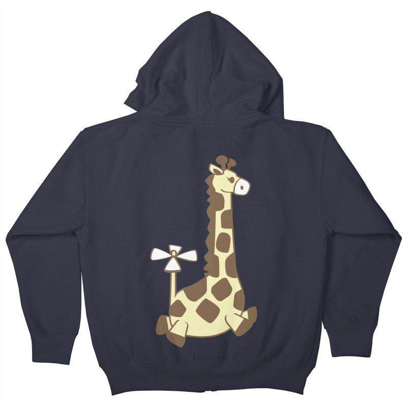 Flying Giraffe Friend Kids Zip-Up Hoody by ShayneArt's Artist Shop
