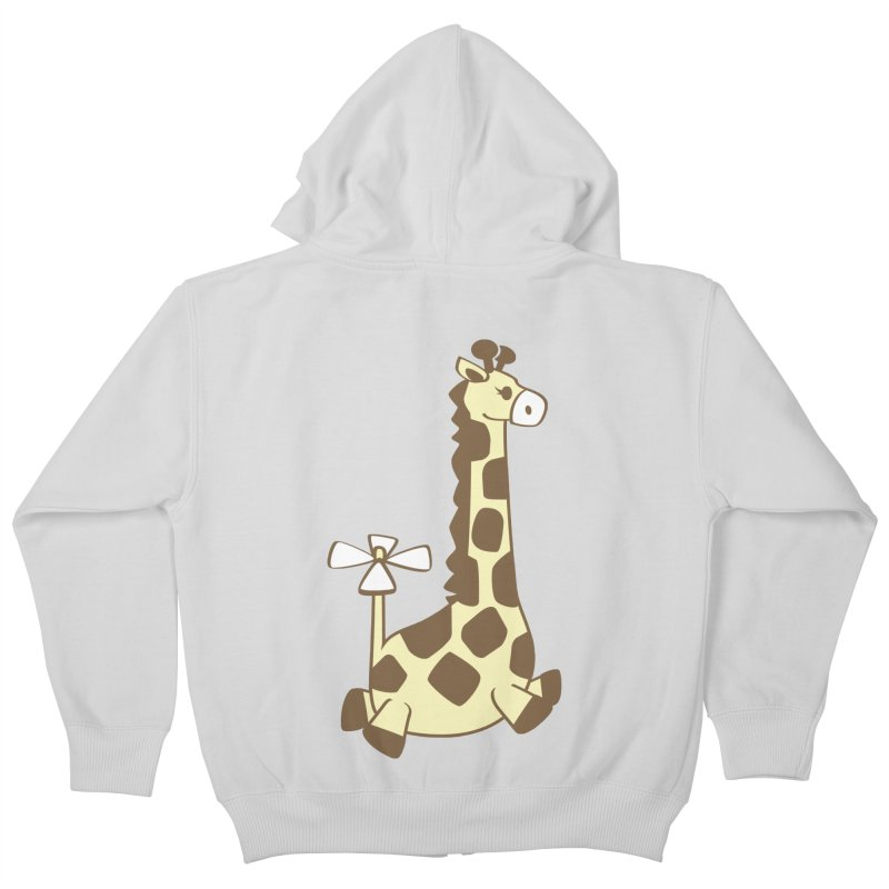 Flying Giraffe Friend Kids Zip-Up Hoody by ShayneArt's Artist Shop