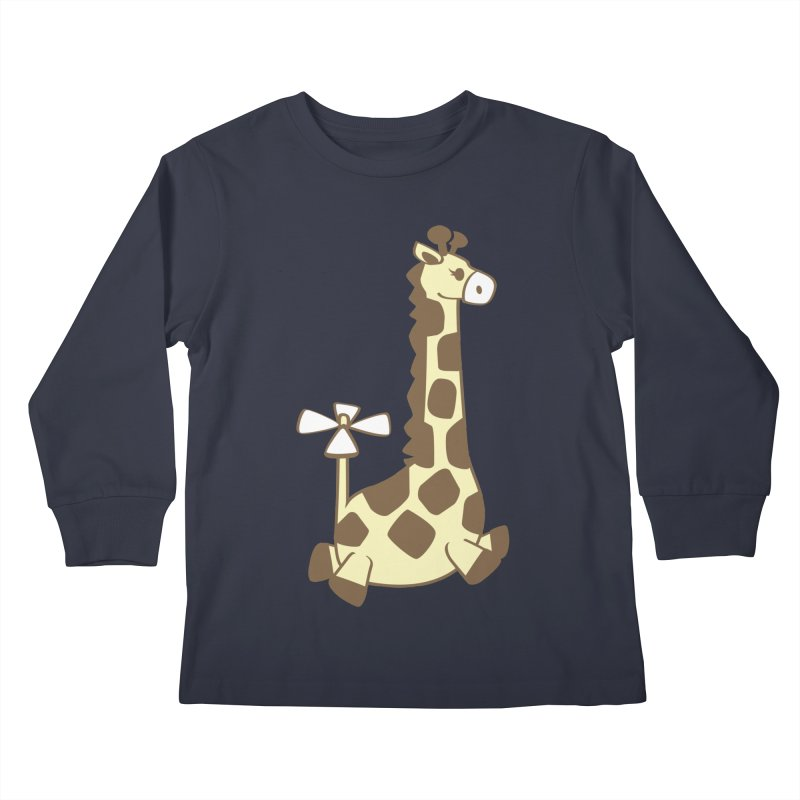 Flying Giraffe Friend Kids Longsleeve T-Shirt by ShayneArt's Artist Shop
