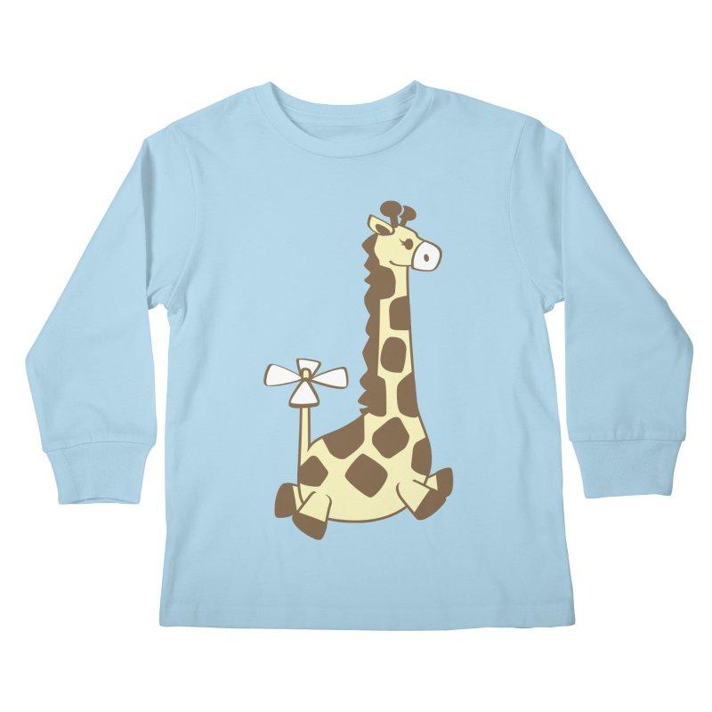 Flying Giraffe Friend Kids Longsleeve T-Shirt by ShayneArt's Artist Shop