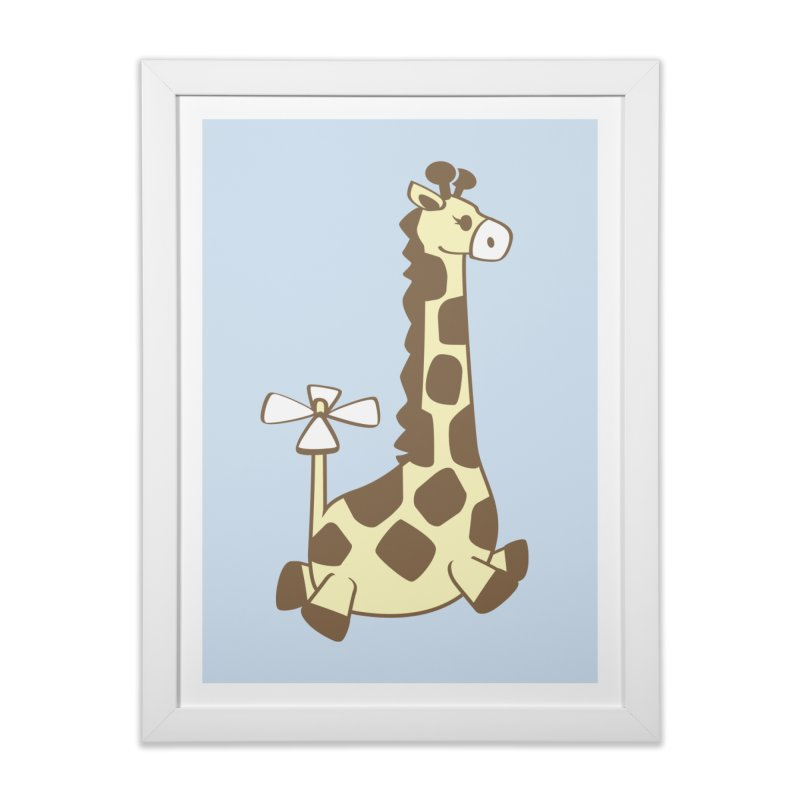 Flying Giraffe Friend Home Framed Fine Art Print by ShayneArt's Artist Shop