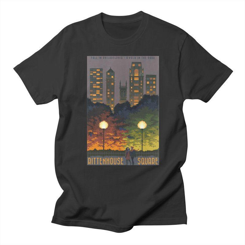Rittenhouse Square is a Walk in the Park in Men's T-shirt Smoke by Sheaffer's Artist Shop