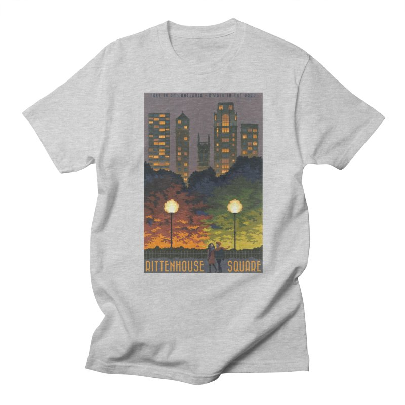 Rittenhouse Square is a Walk in the Park Men's T-Shirt by Sheaffer's Artist Shop