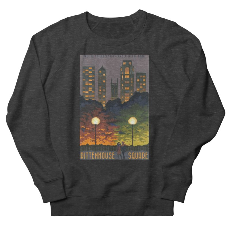 Rittenhouse Square is a Walk in the Park Men's Sweatshirt by Sheaffer's Artist Shop