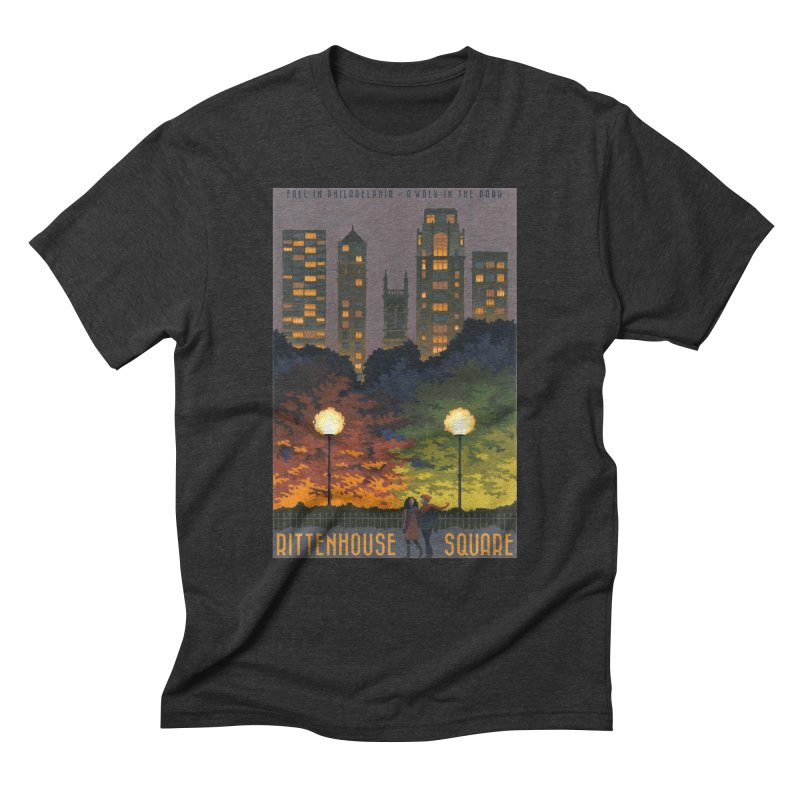Rittenhouse Square is a Walk in the Park Men's Triblend T-Shirt by Sheaffer's Artist Shop