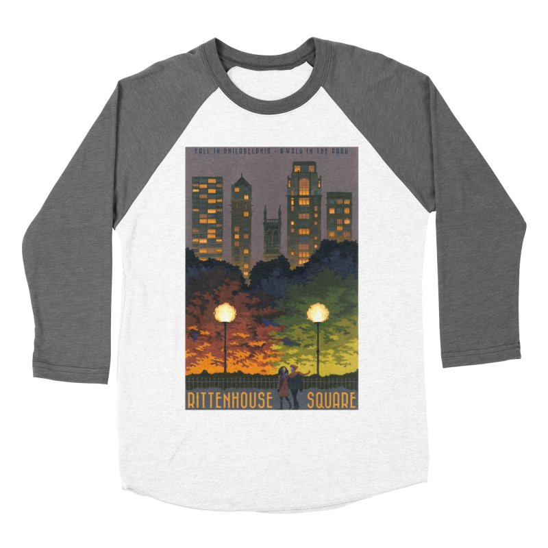 Rittenhouse Square is a Walk in the Park Women's Baseball Triblend T-Shirt by Sheaffer's Artist Shop