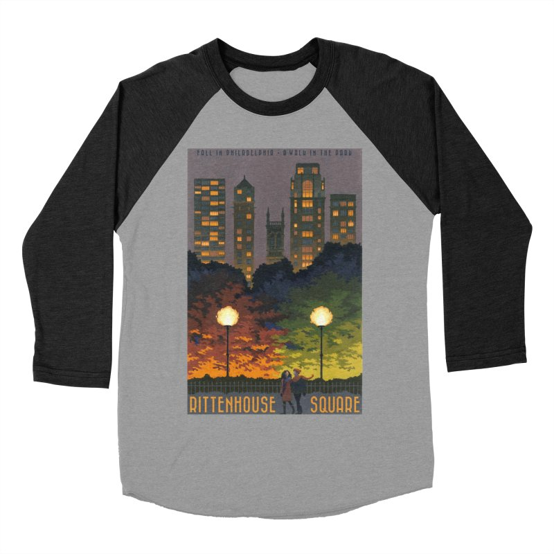 Rittenhouse Square is a Walk in the Park Men's Baseball Triblend T-Shirt by Sheaffer's Artist Shop