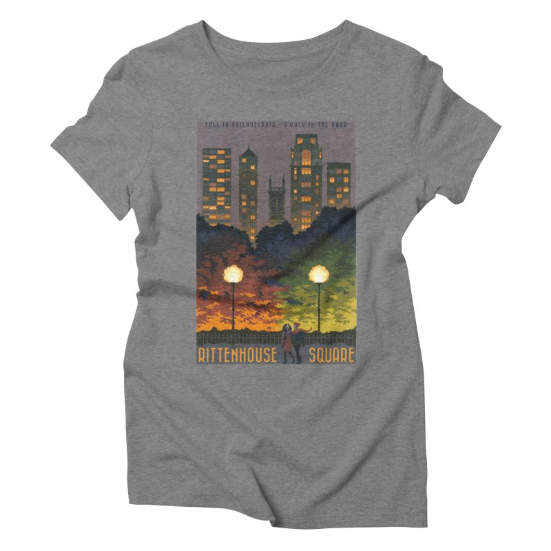 Rittenhouse Square is a Walk in the Park Women's Triblend T-Shirt by Sheaffer's Artist Shop