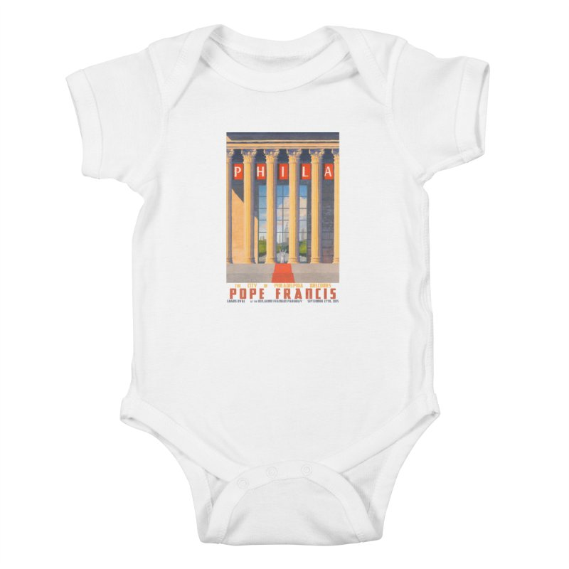 Philadelphia Welcomes Pope Francis Kids Baby Bodysuit by Sheaffer's Artist Shop