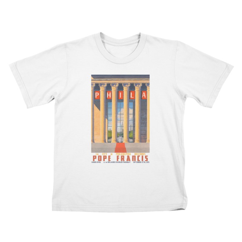Philadelphia Welcomes Pope Francis Kids T-shirt by Sheaffer's Artist Shop